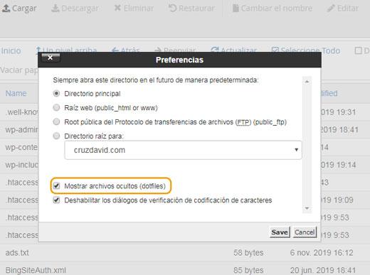 activar archivos ocultos en htaccess