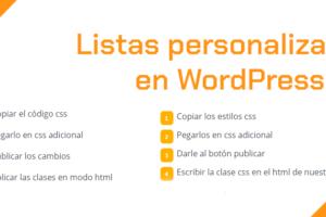 Personalizar listas en WordPress
