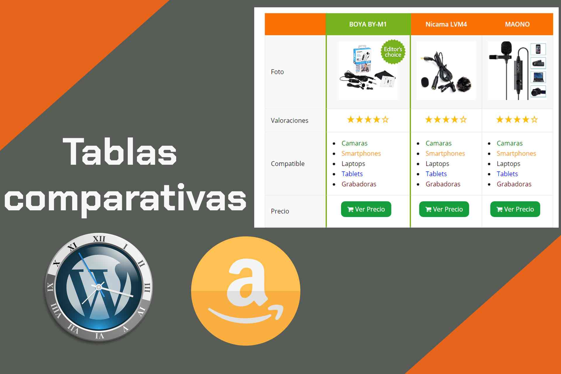 tablas comparativas en wordpress